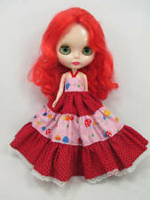 Costume outfit handcrafted halter long dress for Blythe Basaak doll 12-1