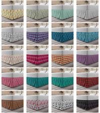 Ambesonne Colorful Surreal Bedskirt Elastic Wrap Around Skirt Gathered Design