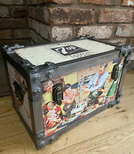 7 up Rustic large industrial look storage chest / trunk.  (40cm long)
