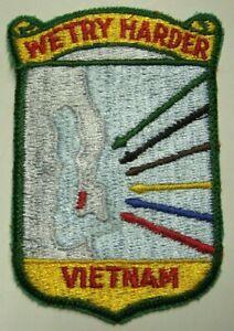 "Vietnam War - US Army Logistics Patch ""We Try Harder  Vietnam"""