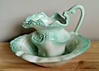 Vintage Small Porcelain Water Pitcher and Basin Bowl Set Original 1980s