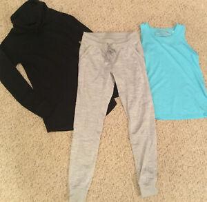 Champion Yoga Fitness Zumba Running Pilates Workout Set Trio LOT Tank Legging