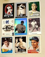 Lot of 9  modern PHIL RIZZUTO Baseball Cards.Ny Yankees superstar, vintage hero