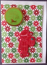 1 Hand made Xmas Card. I'm On Santa's Good List. Postage $2 for 1 to 6 cards