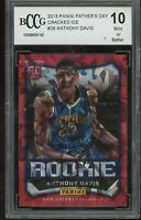 2012-13 panini father's day cracked ice /25 ANTHONY DAVIS rookie BGS BCCG 10