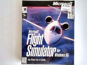 Factory-Sealed Microsoft Flight Simulator for Windows 95 Version 6.0 PC Big Box