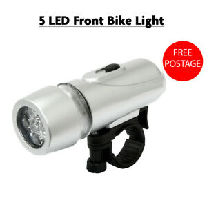 5 LED Front Bike Light Supplied with 4 AAA Batteries