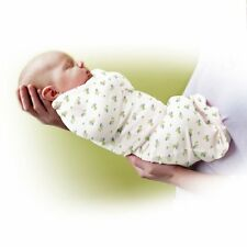 New Baby SwaddleMe Swaddle Pod Blanket Twin Pack Small Cotton Caterpillar & Sage