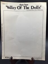 """Vintage Sheet Music 1967 """"valley of the Dolls�"""