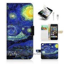( For iPhone 5 / 5S / SE ) Wallet Case Cover! Van Gogh Starry Night P0066