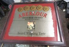 "Aberlour Scotch Whiskey ""GOLD AWARD WINNING"" Advertising Mirror/Picture"