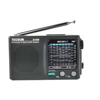 TECSUN R-909 Portable AM FM Radio Shortwave Pocket Radio Player Multi-Band Black