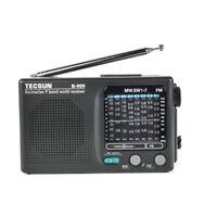 TECSUN R-909 AM FM Portable Radio MW Shortwave 9 Bands Pocket Stereo Receiver