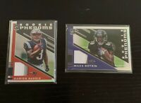 2019 Optic Rookie Phenoms Holo/Prizms Jersey Card Lot of 2 - Boykin, Harris /50