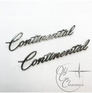 "1974-1975 Lincoln ""Continental"" Quarter Panel Script PAIR (D4VY6525622A) NOS"