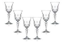 Melodia Sherry Stemmed Wine Glasses 5.5 Oz, Crystal Cut Glassware Set of (6)