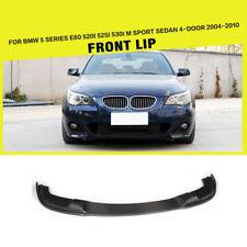 Carbon Fiber Front Bumper Lip Fit For BMW E60 520i M-Sport M-Tech Bumper 04-10