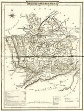 MONMOUTH. County map. Polling places. Coach roads. DUGDALE 1845 old