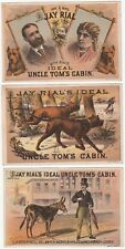 RARE Advertising Trade Card Set 1881 Uncle Tom's Cabin - Jay Rial Theater - Dogs