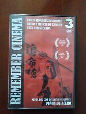BOX 3 DVD'S ARTES MARCIALES. 18 HOMBRES DE BRONCE. CAZA DESESPERADA. KUNG FU.