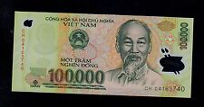 VIET NAM  100000 DONG 2004  CH  POLYMER PICK # 122a UNC BANKNOTE.