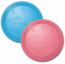 KONG Flyer Frisbee Puppy Small Dog Pink or Blue Soft on Teeth & Gums 18cm