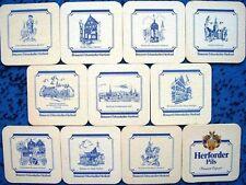 Dessous de verre série Herforder Pils vieux motifs de Herford-COMPLET
