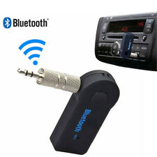 UK Wireless Bluetooth 3.5mm Phone To AUX Car Stereo Music Receiver Adapter w Mic