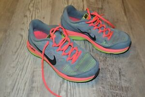 Nike Dual Fusion Run 3 - Women's Size 6.5 - Gray Neon Orange/Green