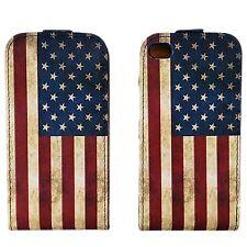 Flip Case für iPhone 5C Klapptasche USA Hülle Tasche Schutztasche Schale Case