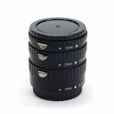 Macro AF Auto Focus Extension Tube Set For Canon + Caps UK Seller