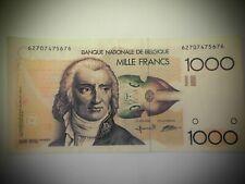 1000 francs Belgique Gretry Bertholomé-Verplaetse crissant