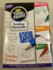 Crayola Take Note Teachers Grading Stamp Set Erasable Highlighters Felt Tip Pens