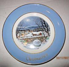 Avon Christmas Plate 1979 Dashing through the Snow b47