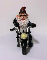 Vintage Christmas Elf Dwarfs Santa Claus Biker Motorcycle Cute Toy Figure Decor
