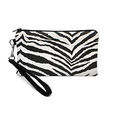 Smartphone Bag Phone Pouch iPhone Wristlet Padded Animal Print Black White Zebra