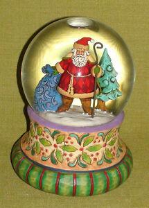 Jim Shore Musical Santa Snowglobe