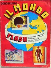 ALBUM FIGURINE CONOSCIAMO IL MONDO COMPLETO 1981 FIGURINE LAMPO STICKERS