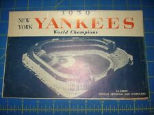 1959 NEW YORK YANKEES WORLD CHAMPIONS OFFICIAL PROGRAM AND SCORECARD EXCELLENT