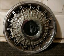 "(1) OEM 1978-81 Lincoln Mark V VI Town Car 15"" Wire Spoke Hubcap Wheel Cover #B"