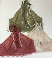 1e0af2994c4f34 Free Shipping. Lot of 3 Victorias Secret Very Sexy Lace Up High Neck  Bralette Bra Medium N2981
