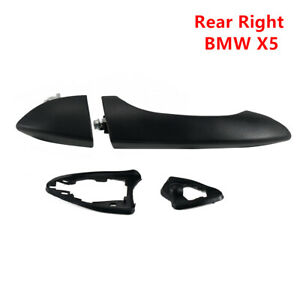 For BMW X5 E53 2000-2005 2006 Rear Right Exterior Outer Door Handle Dumb Black