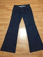 The Diva Dark Jeans Boot Cut size 6 Long Old Navy Braided Pockets
