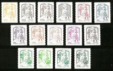 2013 Série Autoadhésifs n° 847 à 861 Marianne de CIAPPA Neufs** LUXE MNH