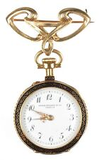 Patek Philippe Antique Pendant Watch 18K Gold 15 Jewel 15J Paperwork & Case 1904