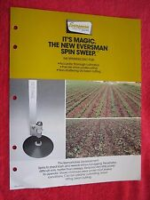 VINTAGE 1984 EVERSMAN NEW SPIN SWEEP ONION UNDERCUTTER, DRY BEAN CUTTER BROCHURE