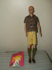 Vintage Ken Doll 750 1961 Flocked Blond Hair +Sport Shorts Outfit Complete AS IS