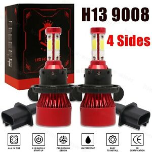 H13 9008 LED Headlight Bulbs Kit CREE for Ford F150 2004-2014 High&Low Beam 6K