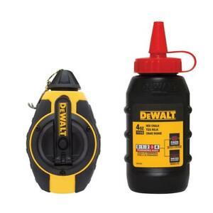 Dewalt 3:1 Chalk Line Measuring Reel with Red Chalk DWHT47374L
