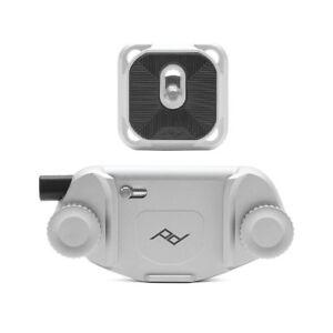 Peak Design Capture Clip V3 Silver + Standard Kameraplatte für Gürtel silber